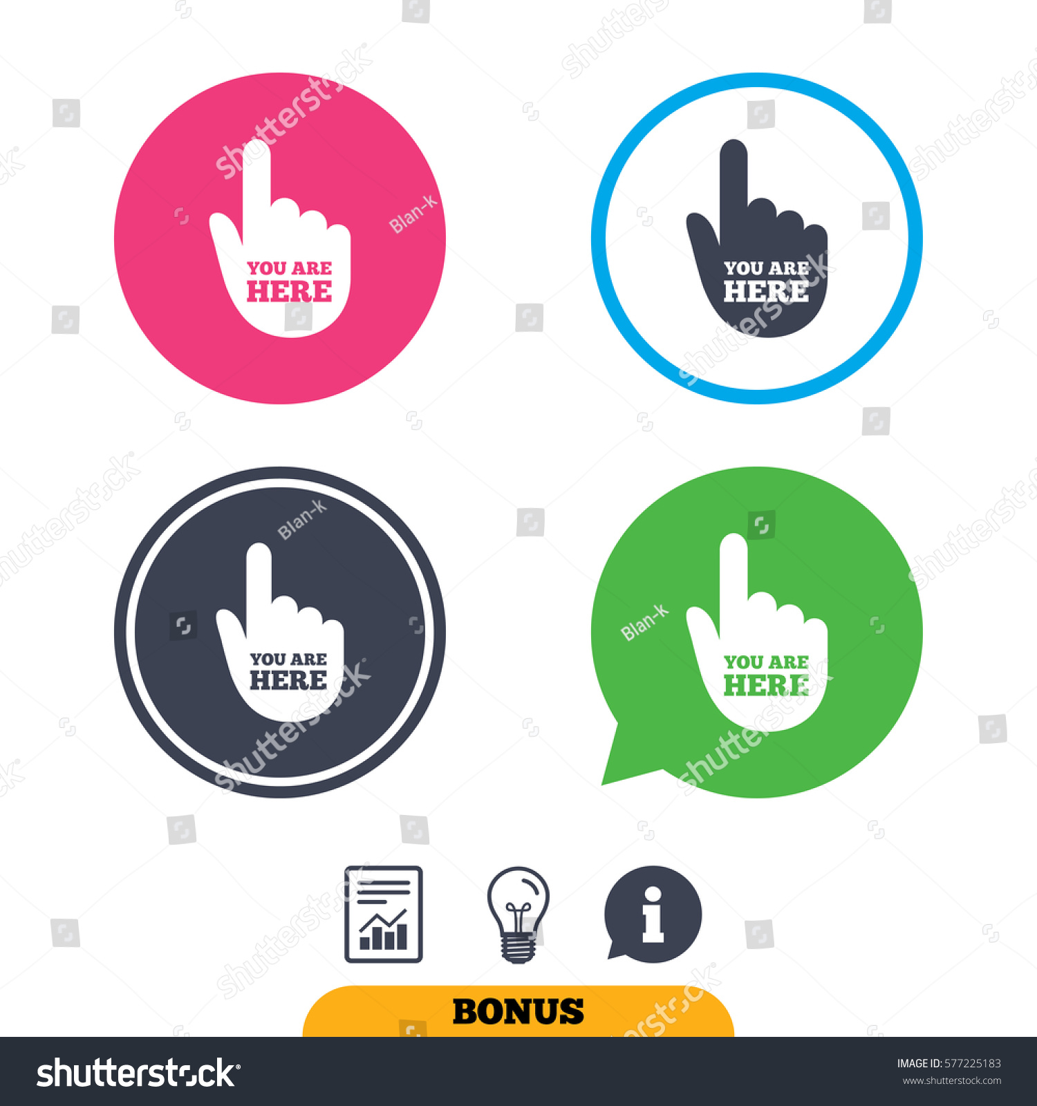 You Here Sign Icon Info Symbol Stock Illustration 577225183