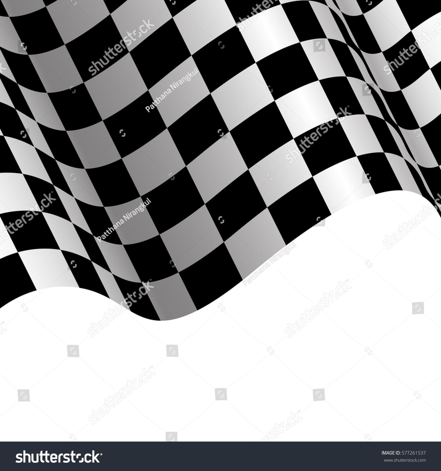 Checkered Design Checkered Flag White Background Design Race Stock Vector 577261537