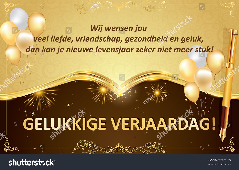 Dutch birthday greeting card friends colleagues stock illustration dutch birthday greeting card for friends colleagues and boss we wish you love m4hsunfo