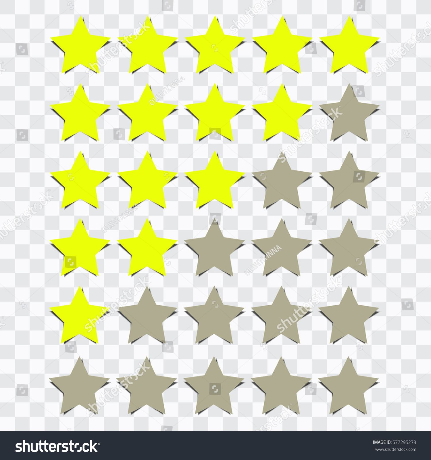 Star Rating Transparent Background Stock Vector Royalty Free