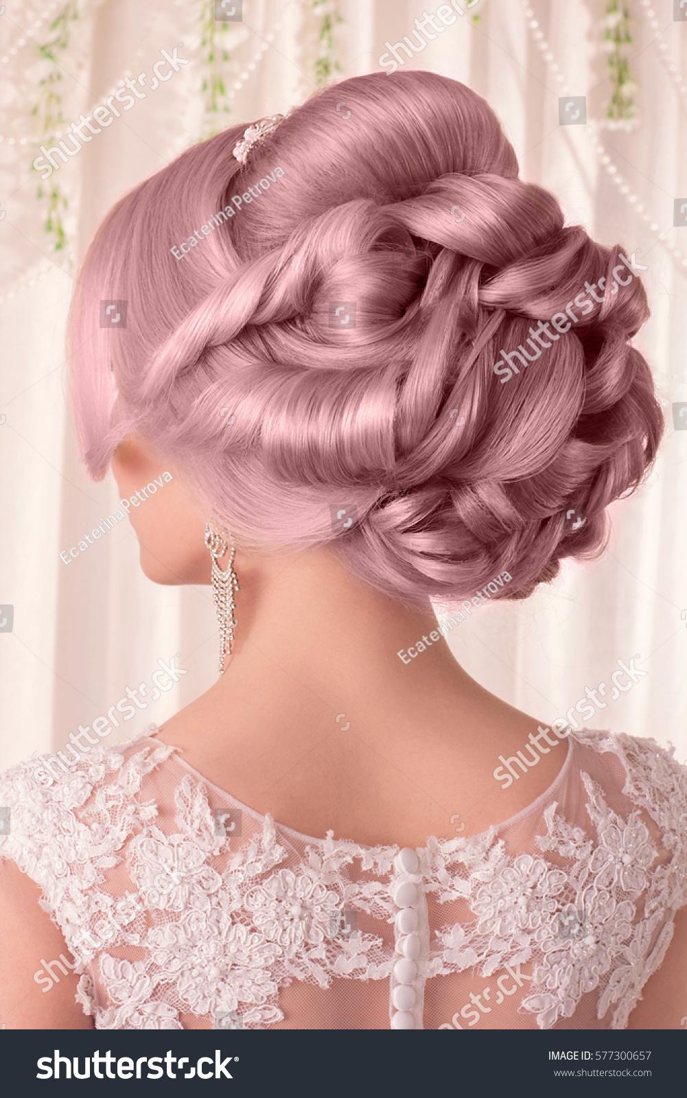 Beauty Wedding Hairstyle Bride Beauty Wedding Stock Photo (Edit Now ...