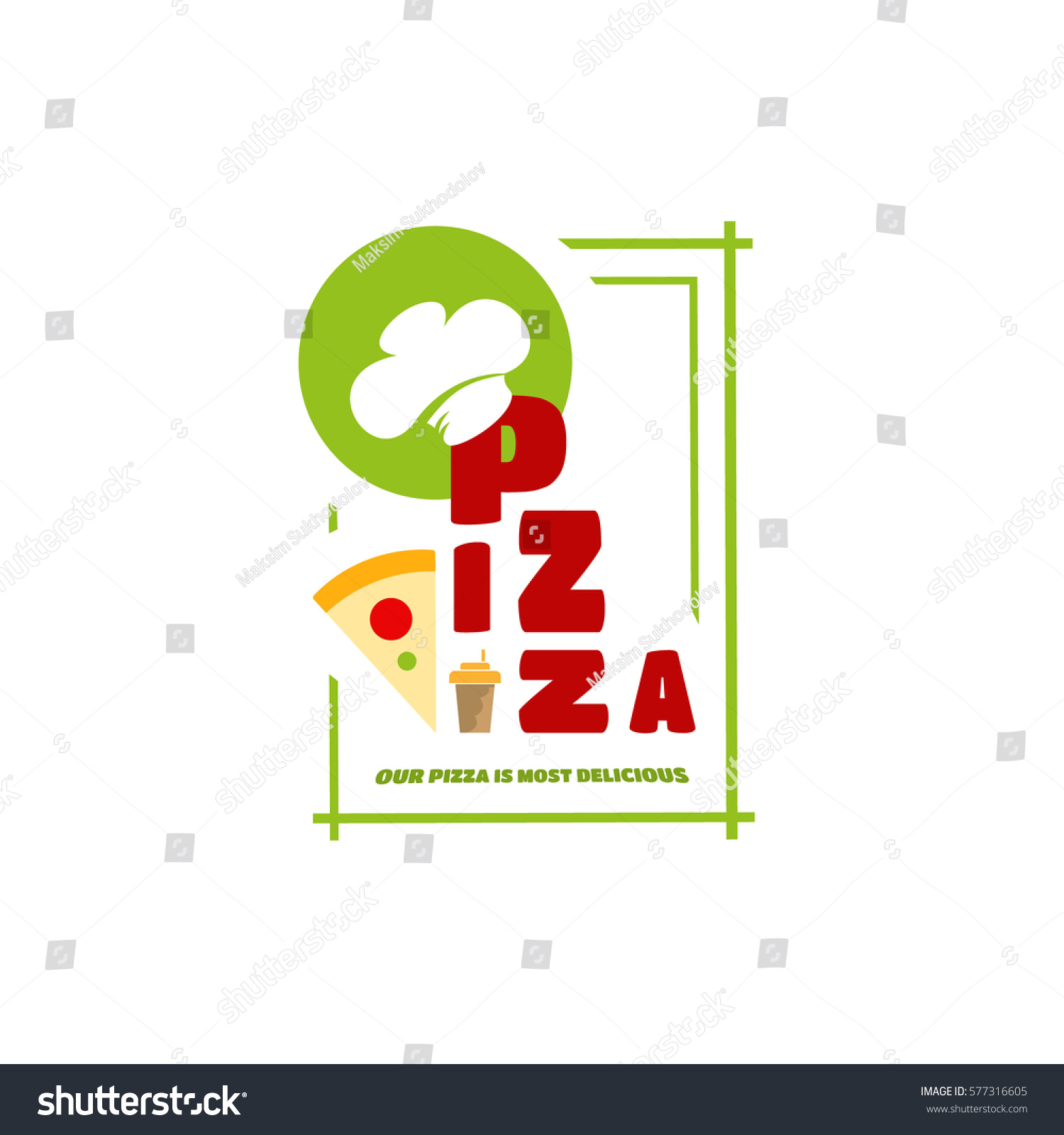 Italian cafe symbol text wearing chef stock vector 577316605 italian cafe symbol in the text wearing chef hat a piece of cake at buycottarizona