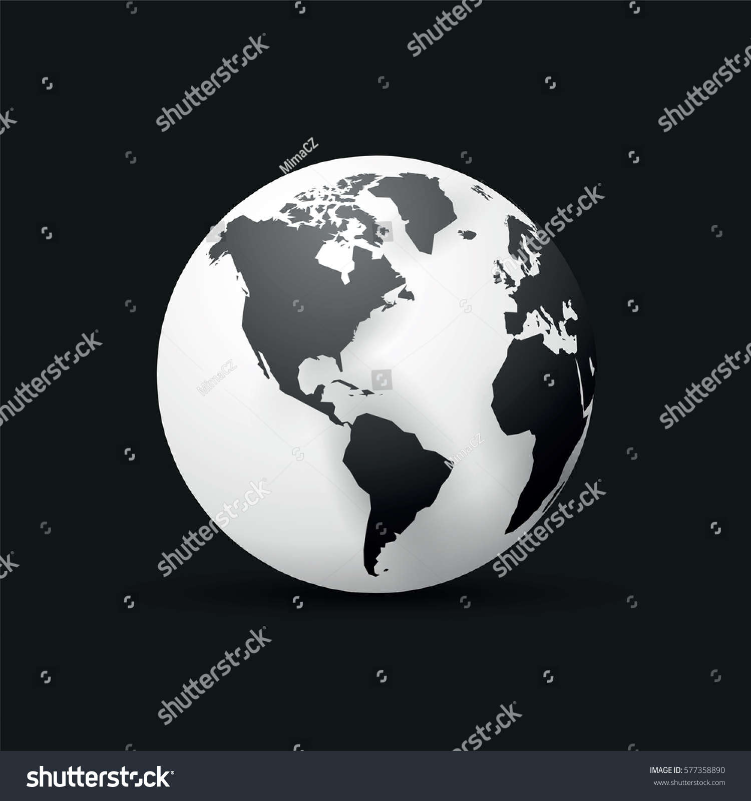 Black earth globe world map design stock vector 577358890 black earth globe world map design america gumiabroncs Image collections