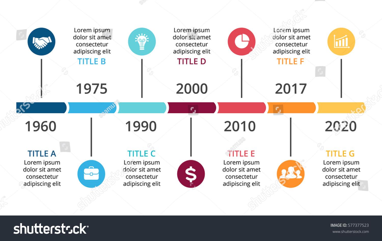vector arrows timeline infographic diagram chart のベクター画像素材