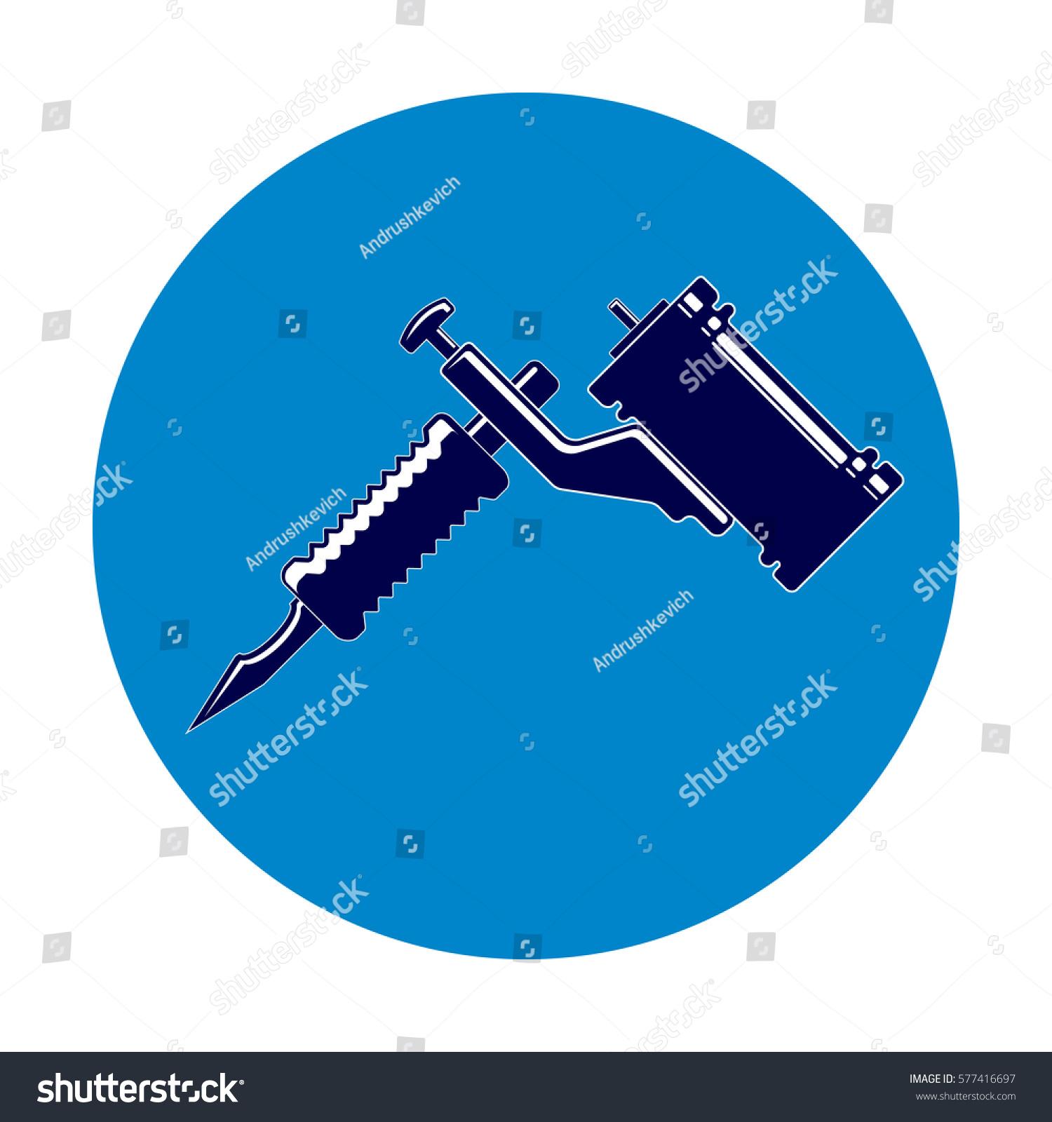 Icon Tattoo Machine Stock Vector Royalty Free 577416697 Shutterstock Diagram