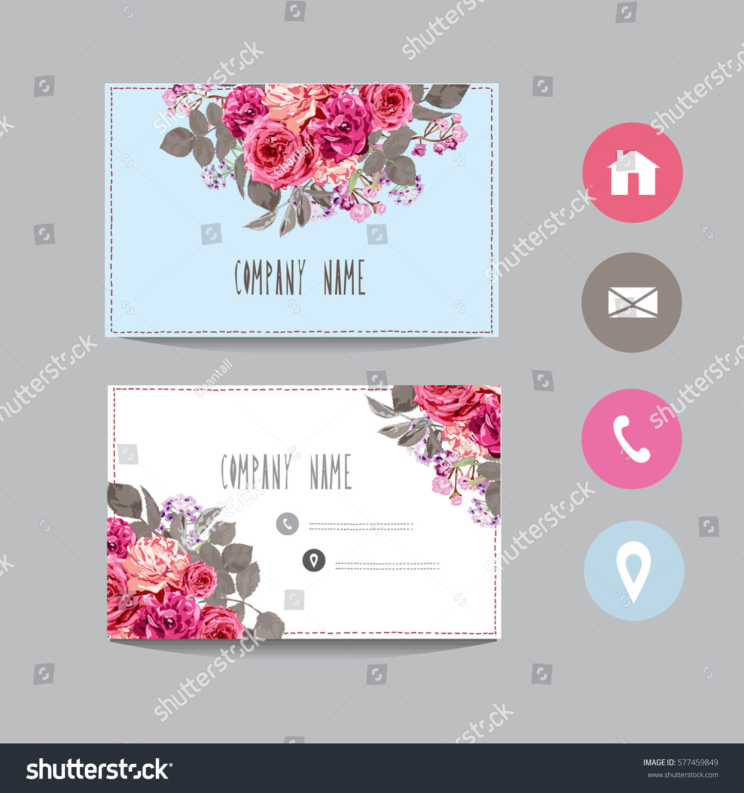 business card template design element can stock vector