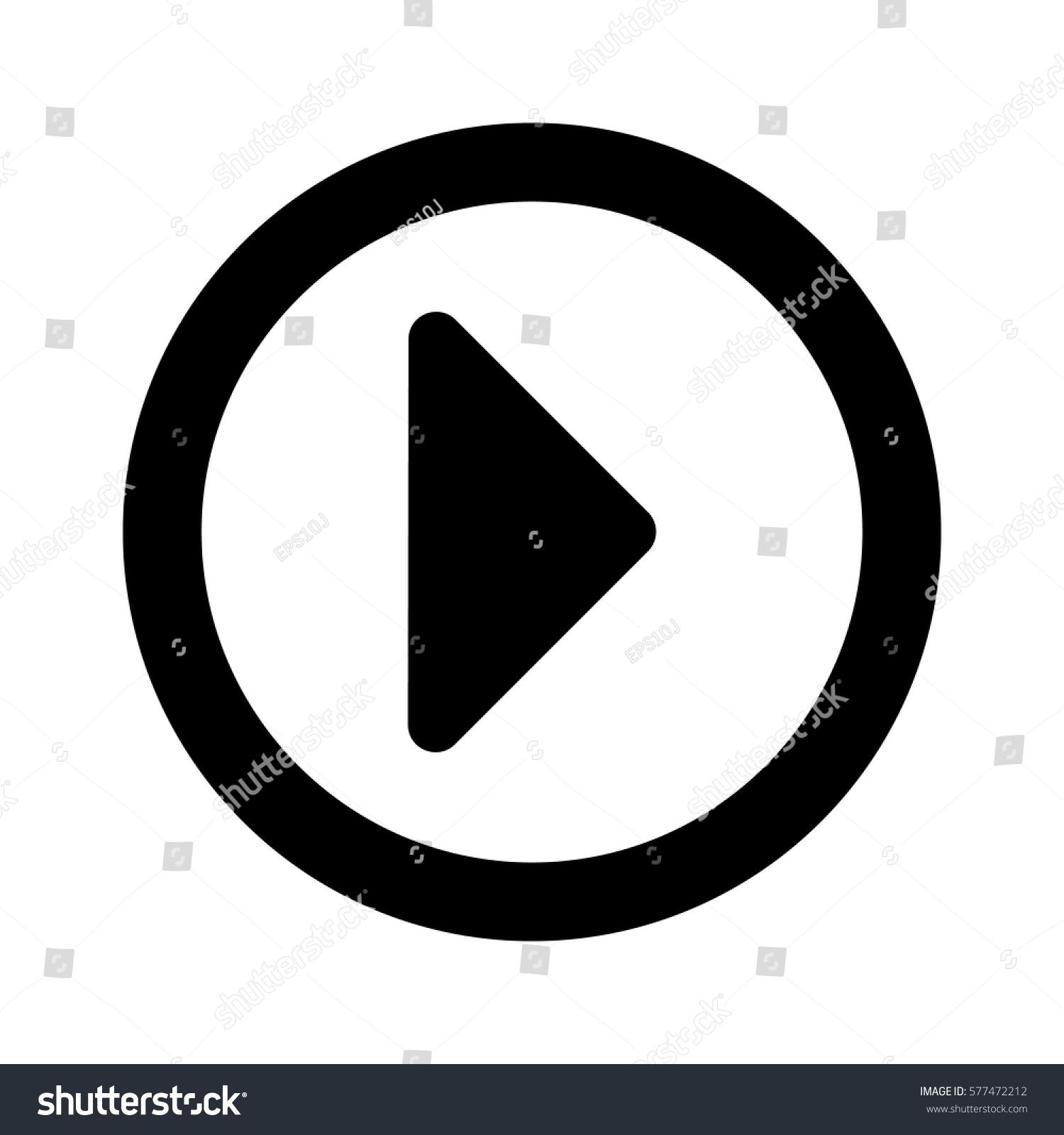 play button icon vector buttons stock vector 577472212 shutterstock rh shutterstock com vector google play button vector video play button
