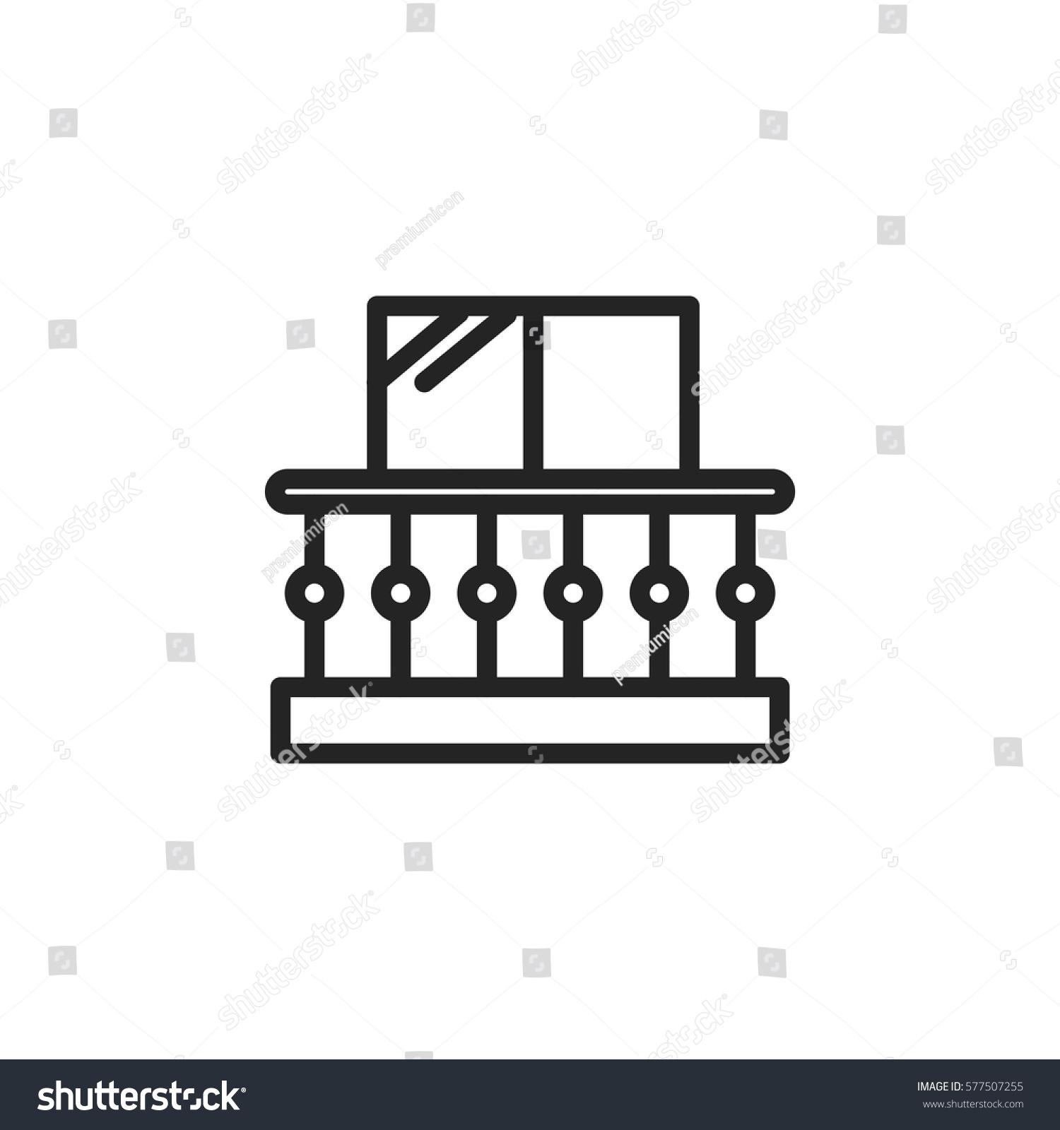 Balcony vector icon modern simple flat for Balcony vector