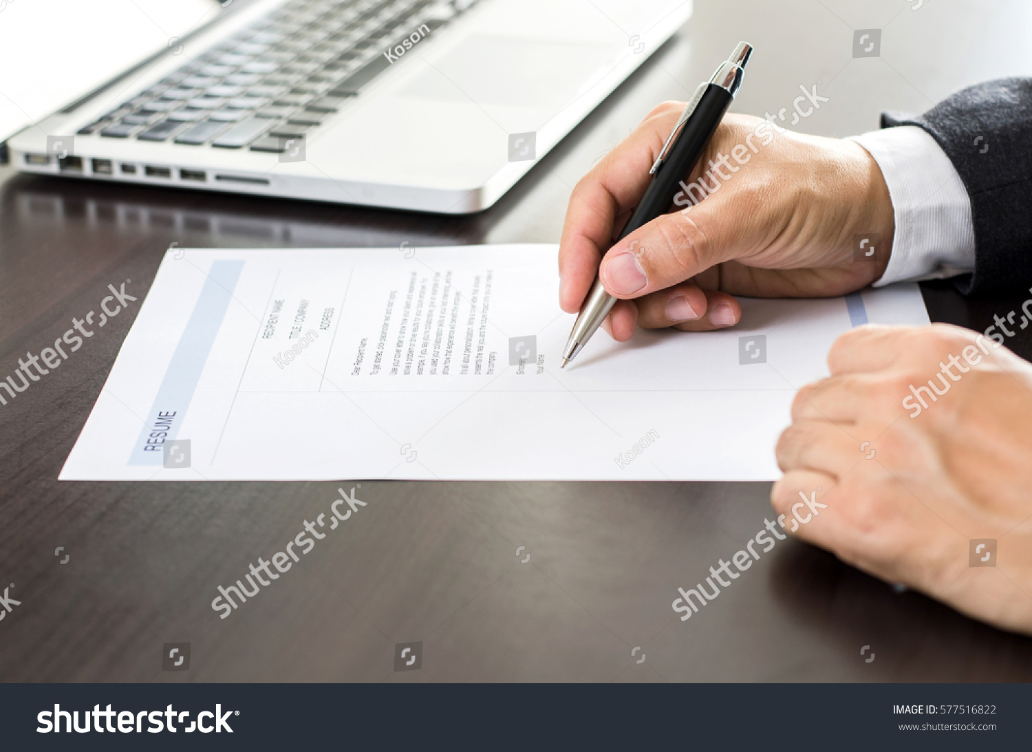 closeup businessman job seeker signing on stock photo 100 legal