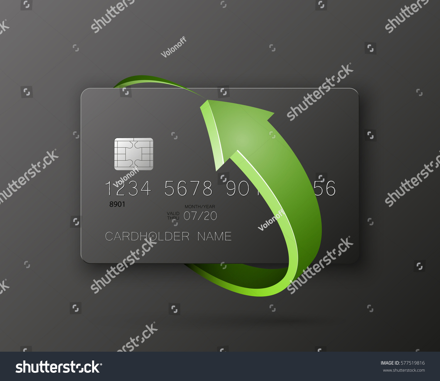 Credit Card Round Arrow Update Banking Stock Vector 577519816 ...