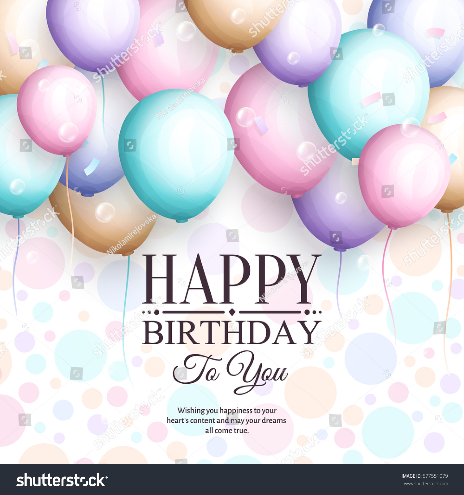 Happy Birthday Greeting Card Retro Vintage Stock Vector Royalty