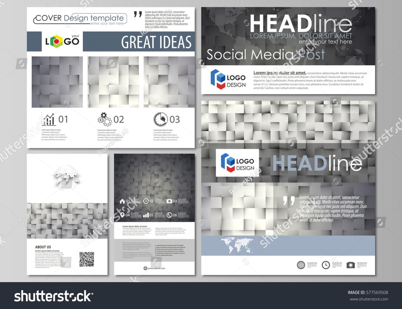 social media posts set business templates stock vector 577569508 shutterstock. Black Bedroom Furniture Sets. Home Design Ideas