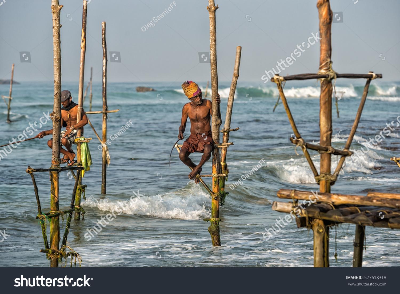 Weligama sri lanka january 11 2017 stock photo 577618318 for Sri lanka fishing