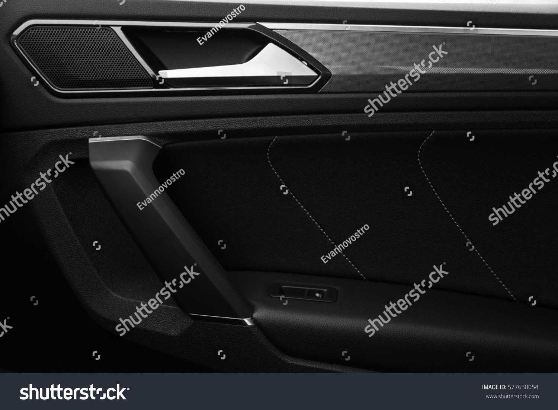 Inner Door Handle Modern Black Car Interior Detail Ez Canvas