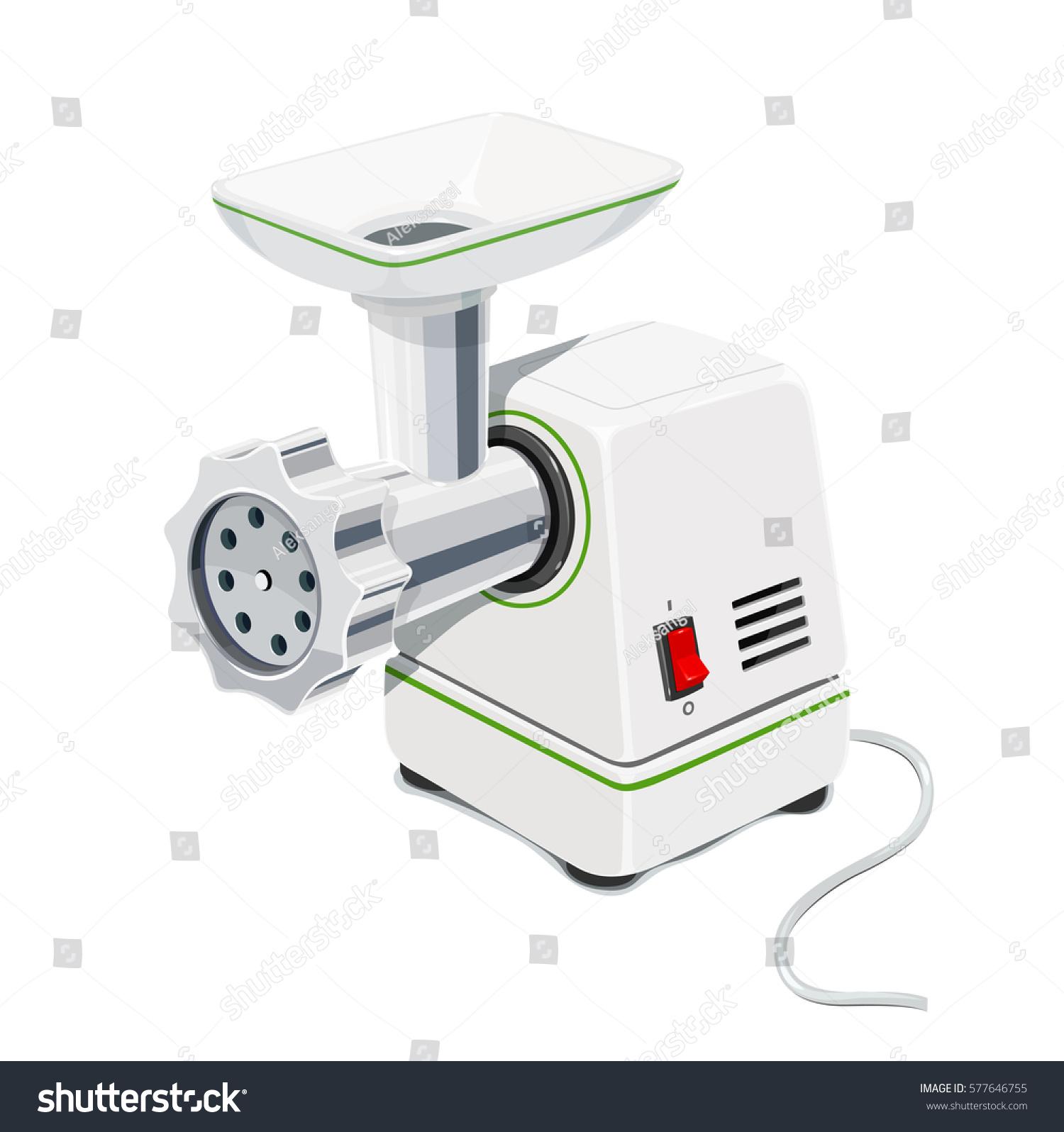 Electric Meat Grinder. Kitchen Equipment For Grind. Mincer Cooking Meal.  Pofessional Cook Instrument