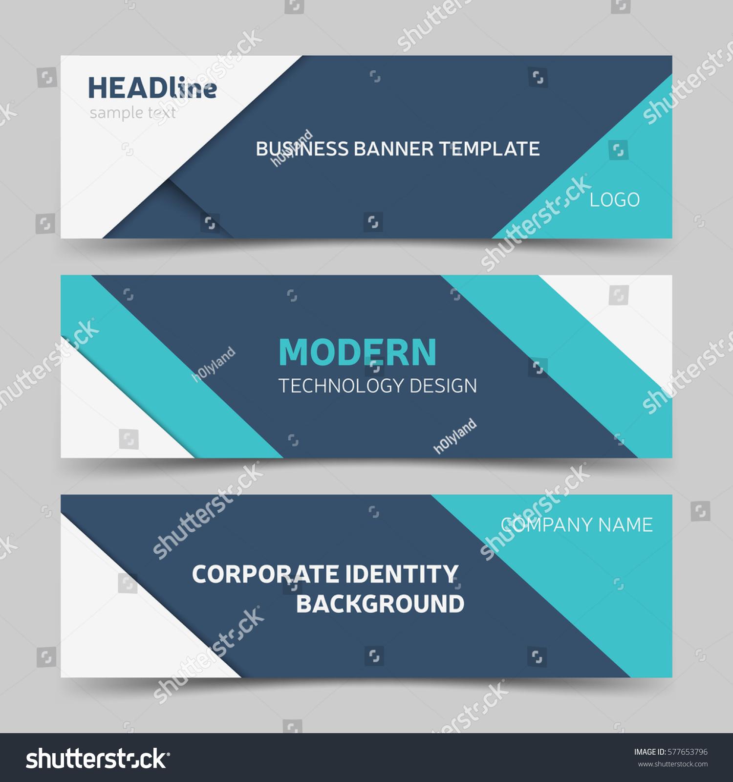 white blue banner template modern web stock vector 577653796 shutterstock. Black Bedroom Furniture Sets. Home Design Ideas