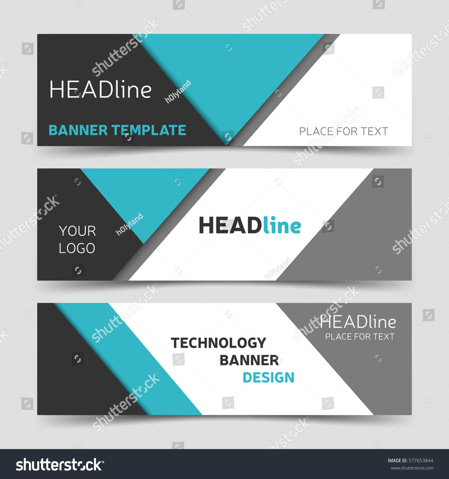 Gray blue banner design horizontal business stock vector 577653844 horizontal business header template modern technology layout eps10 accmission Gallery