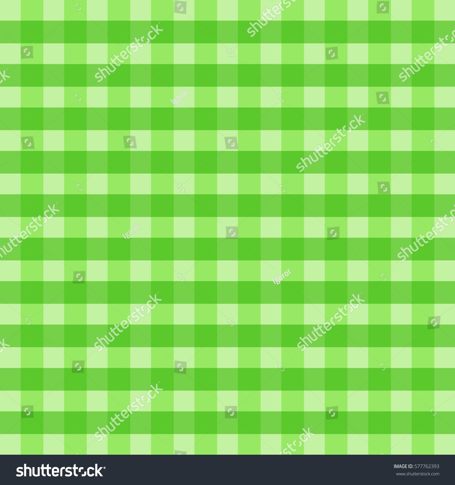 Green Checkered Picnic Tablecloth