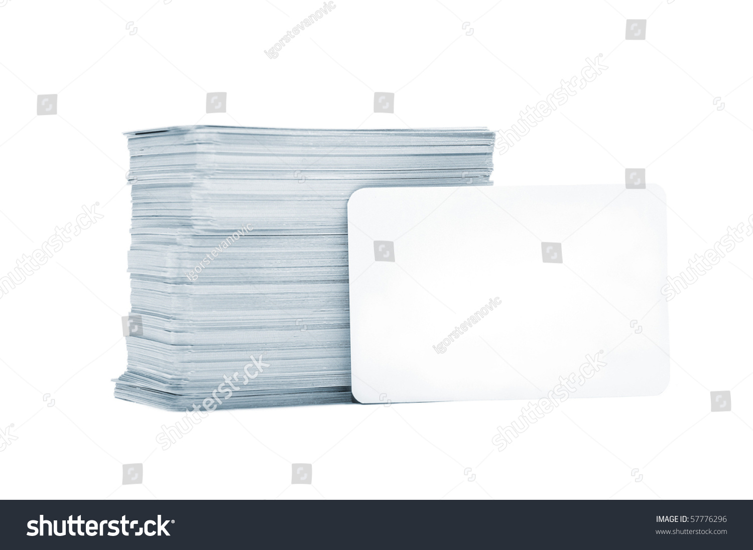Business Cards Rounded Corners On White Stock Photo 57776296 ...