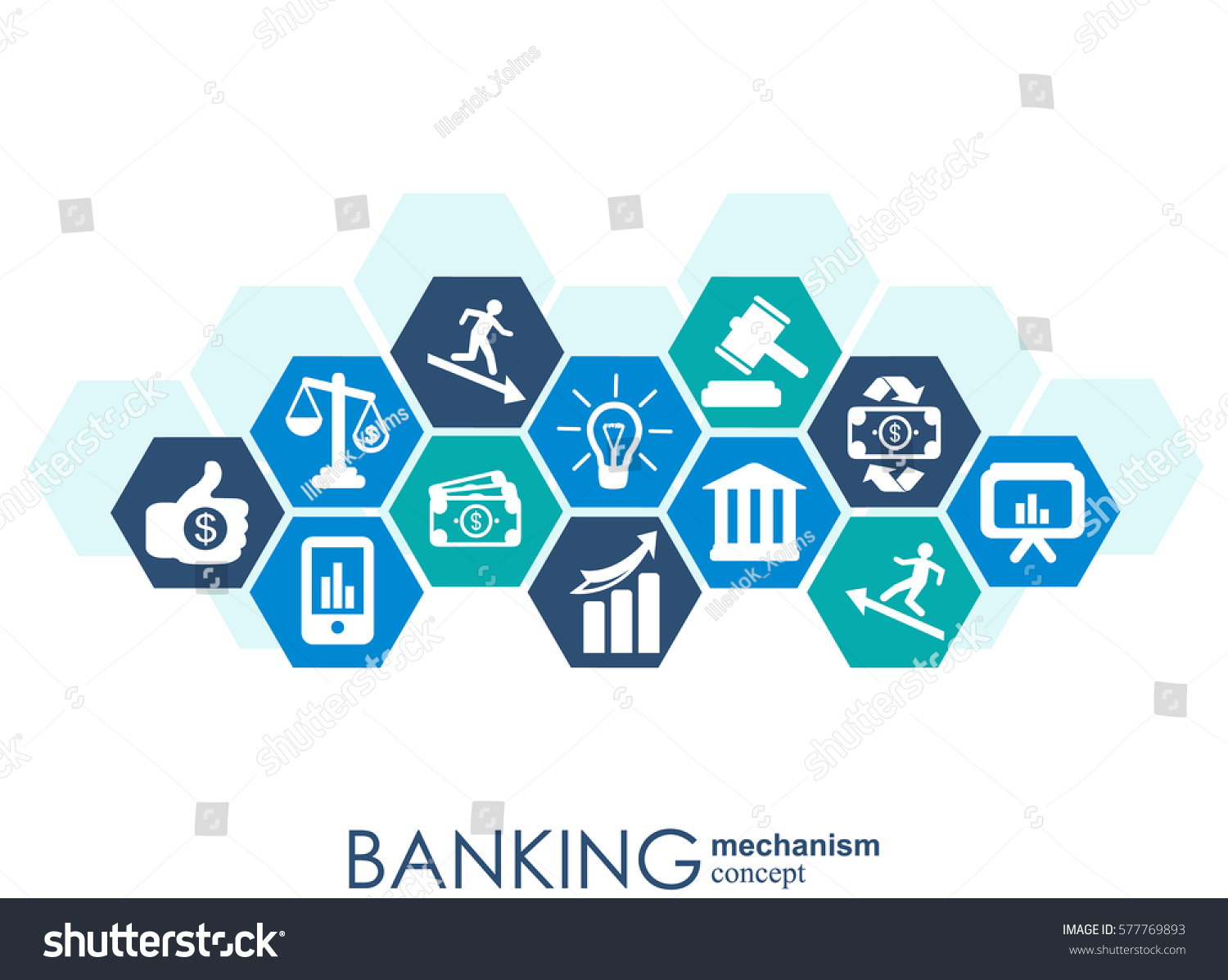 Banking mechanism abstract background connected gears stock vector banking mechanism abstract background with connected gears and integrated flat icons symbols for money biocorpaavc Gallery