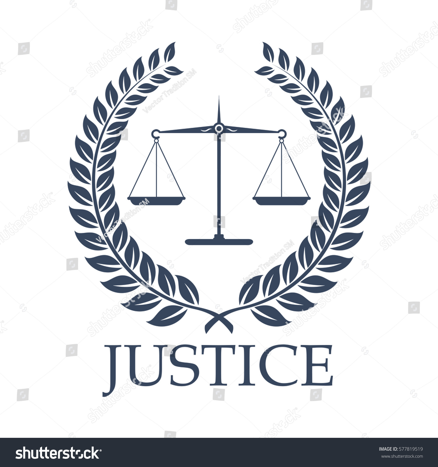 Legal Law Icon Symbols Justice Scales Stock Vector Hd Royalty Free
