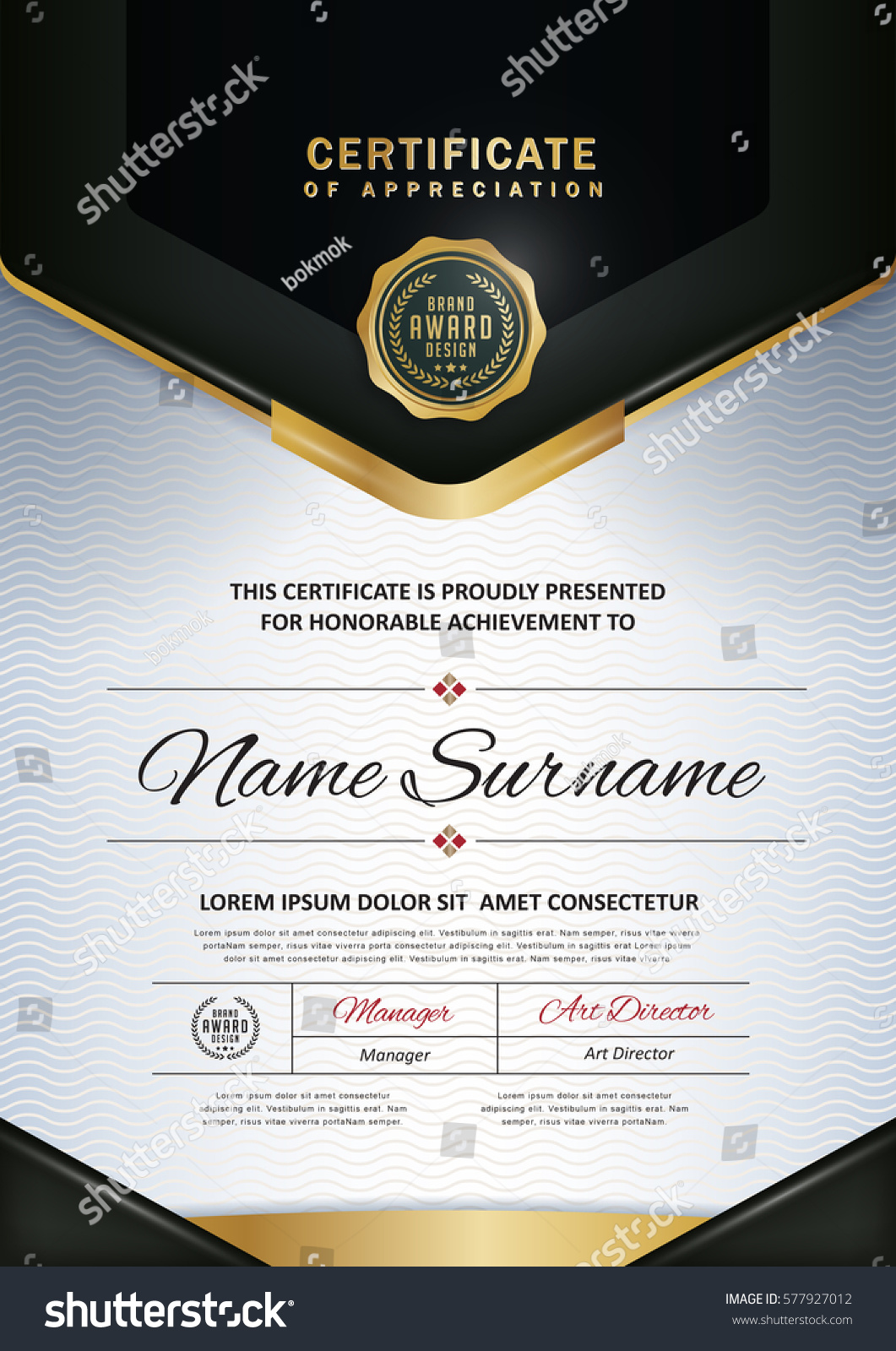 Certificate Template Luxury Modern Patterndiploma Vector ...