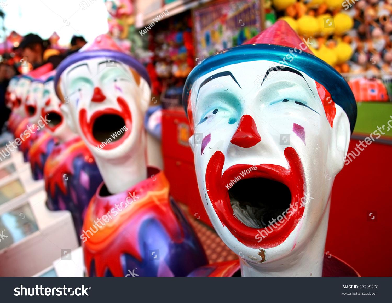 lots clowns row fun fair stock photo 57795208 shutterstock