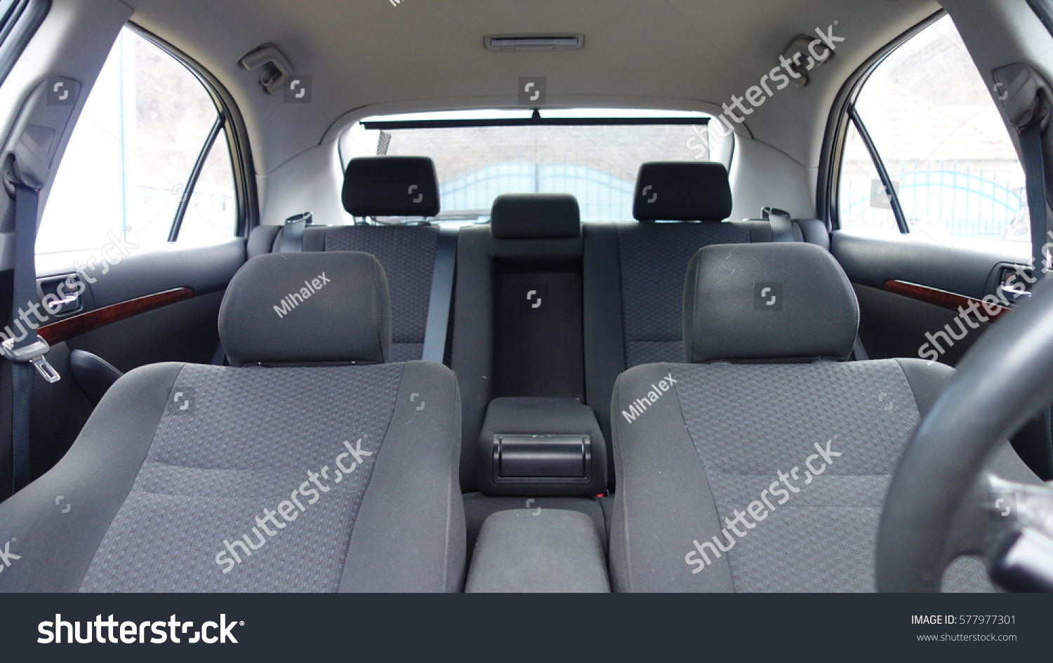 Tremendous Inside Car Interior Front Back Seats Stock Photo Edit Now Gmtry Best Dining Table And Chair Ideas Images Gmtryco