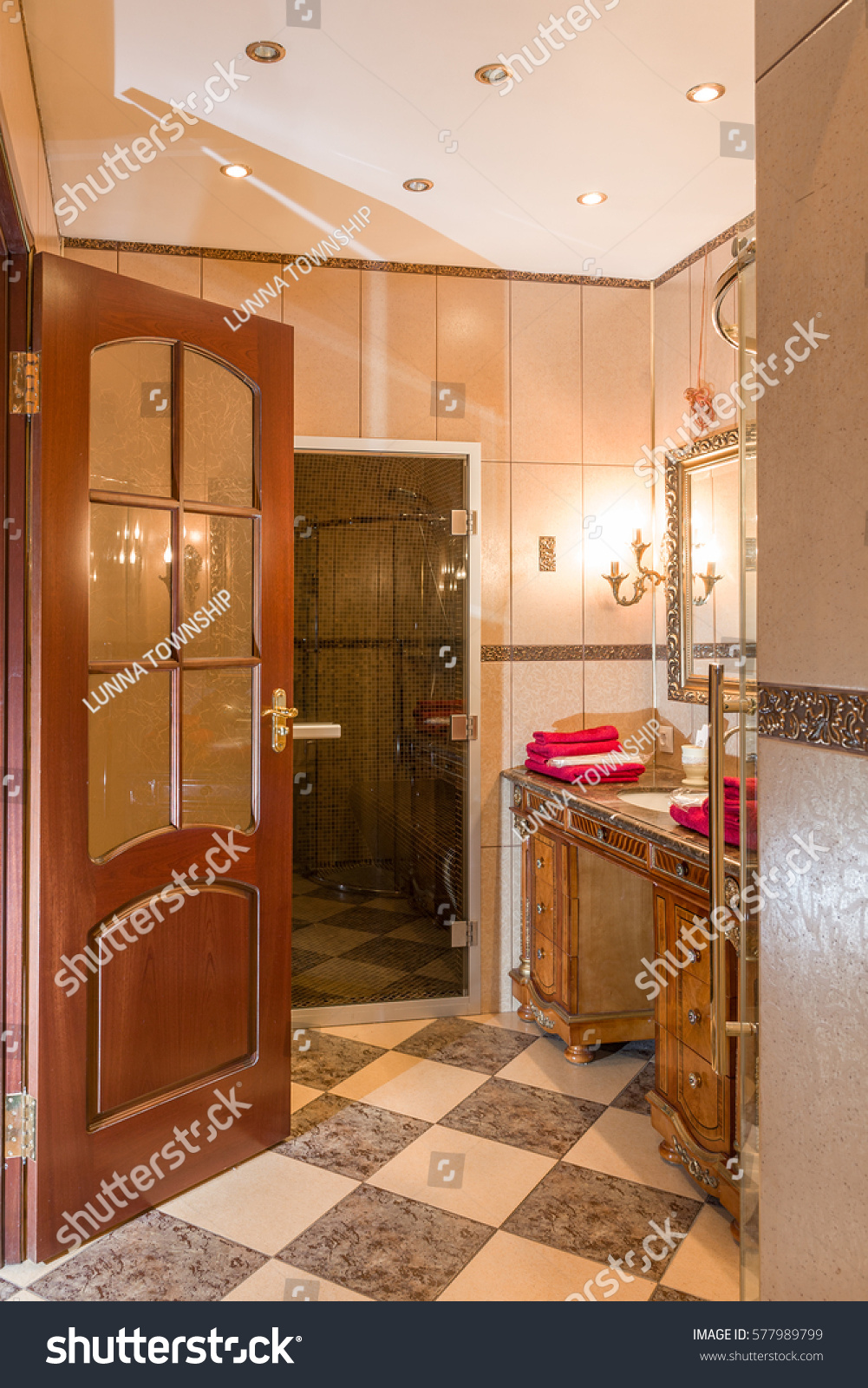 Moscow russian federation circa february 2017 stock photo 577989799 moscow russian federation circa february 2017 hotel interior bathroom the dailygadgetfo Images