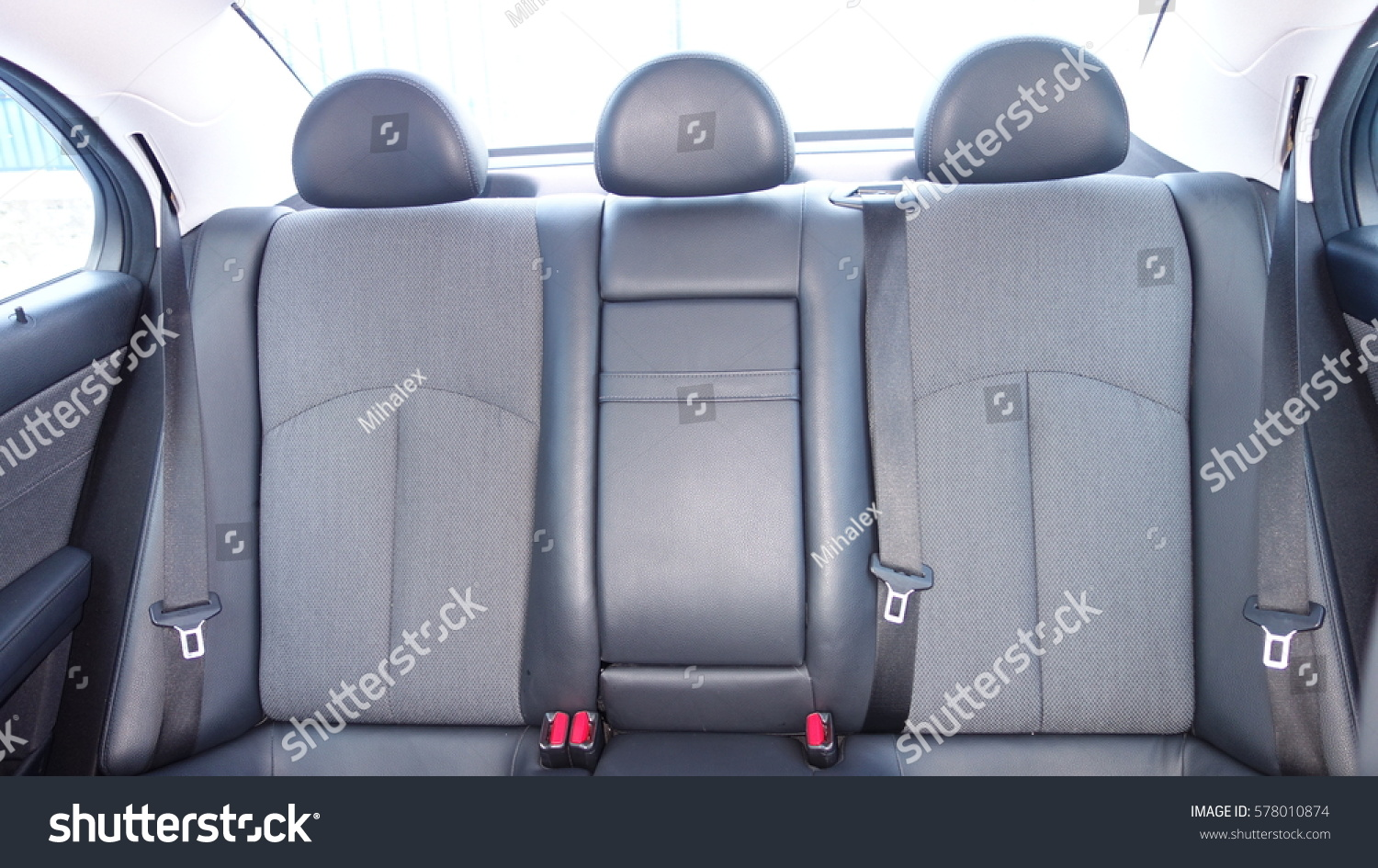 Coupe Sport Car View Leather Interior Stock Photo - Sports cars with back seats