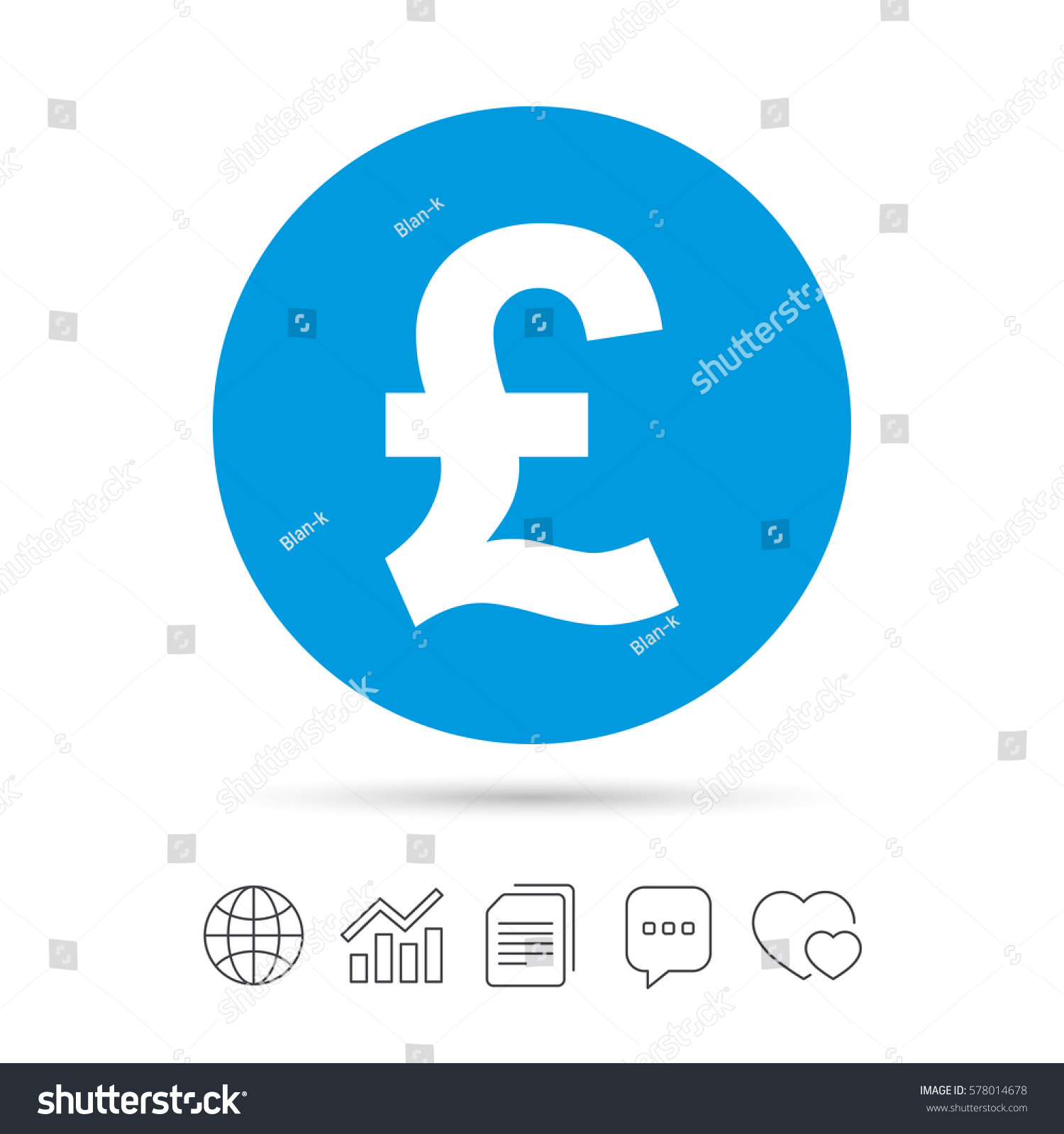 Pound sign icon gbp currency symbol stock vector 578014678 pound sign icon gbp currency symbol money label copy files chat speech buycottarizona Choice Image