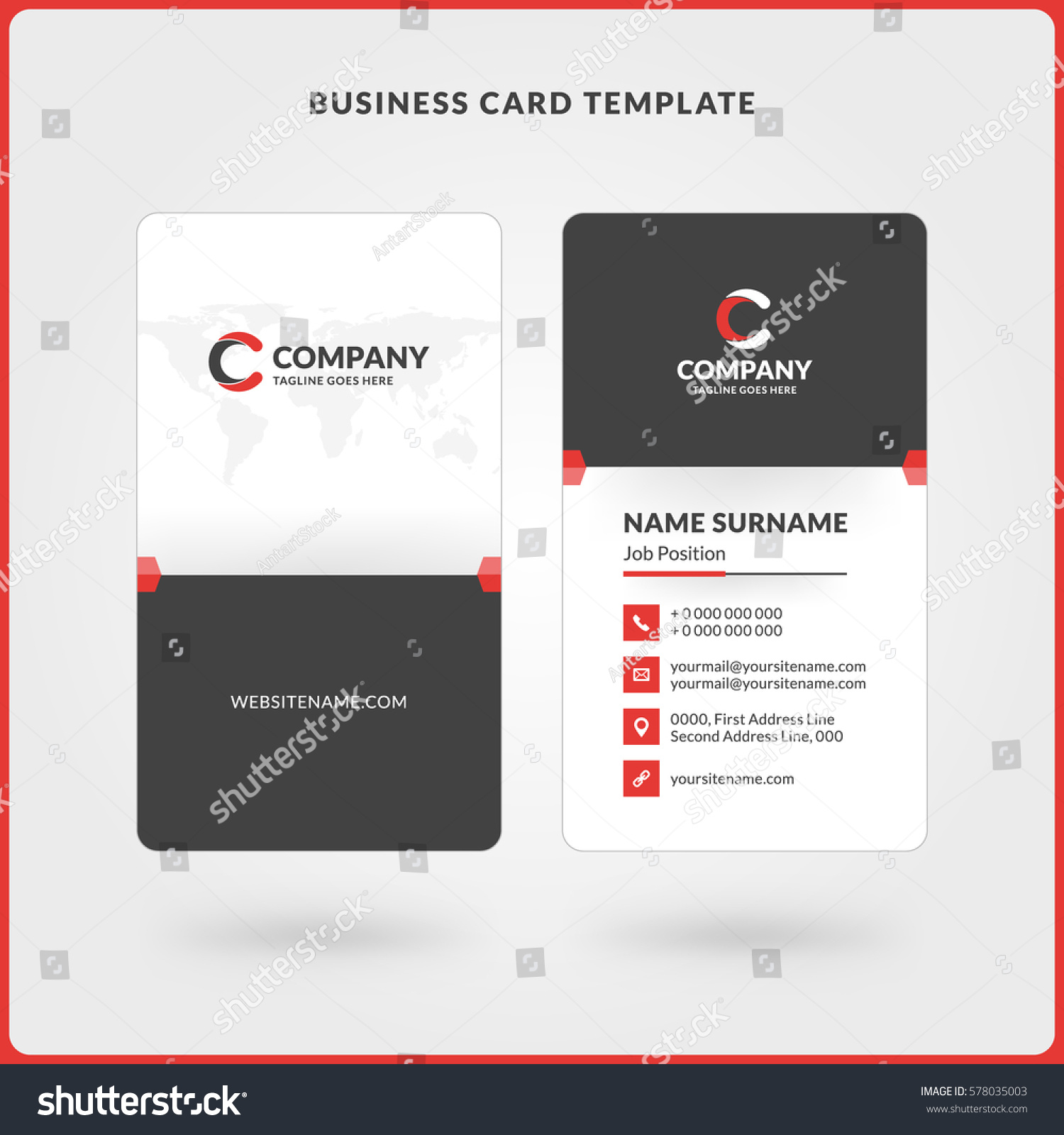 Double Sided Business Cards Template Images Templates Example - Double sided business cards template word
