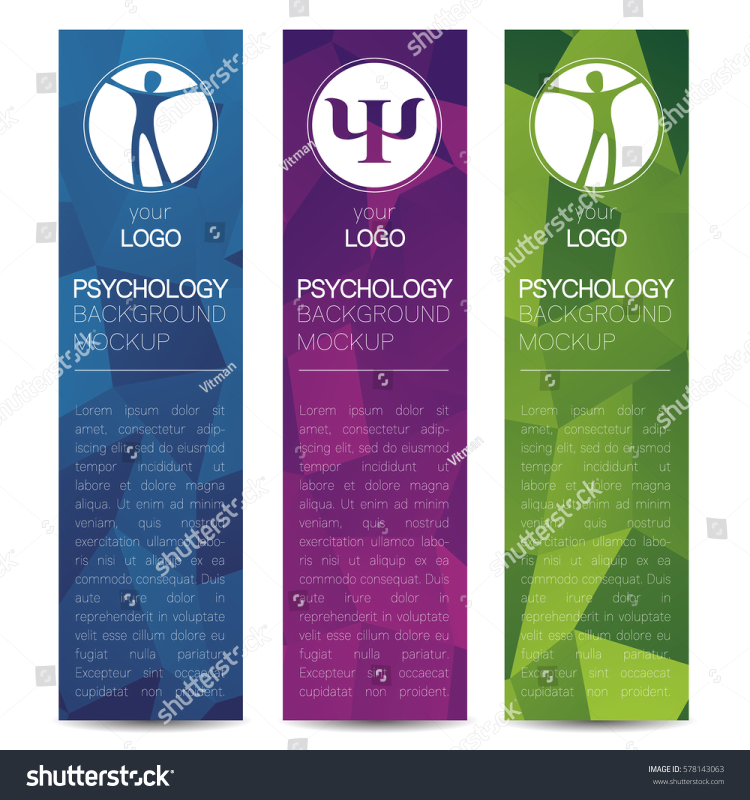 Vector Psychology Web Banner Design Background Stock Vector ...