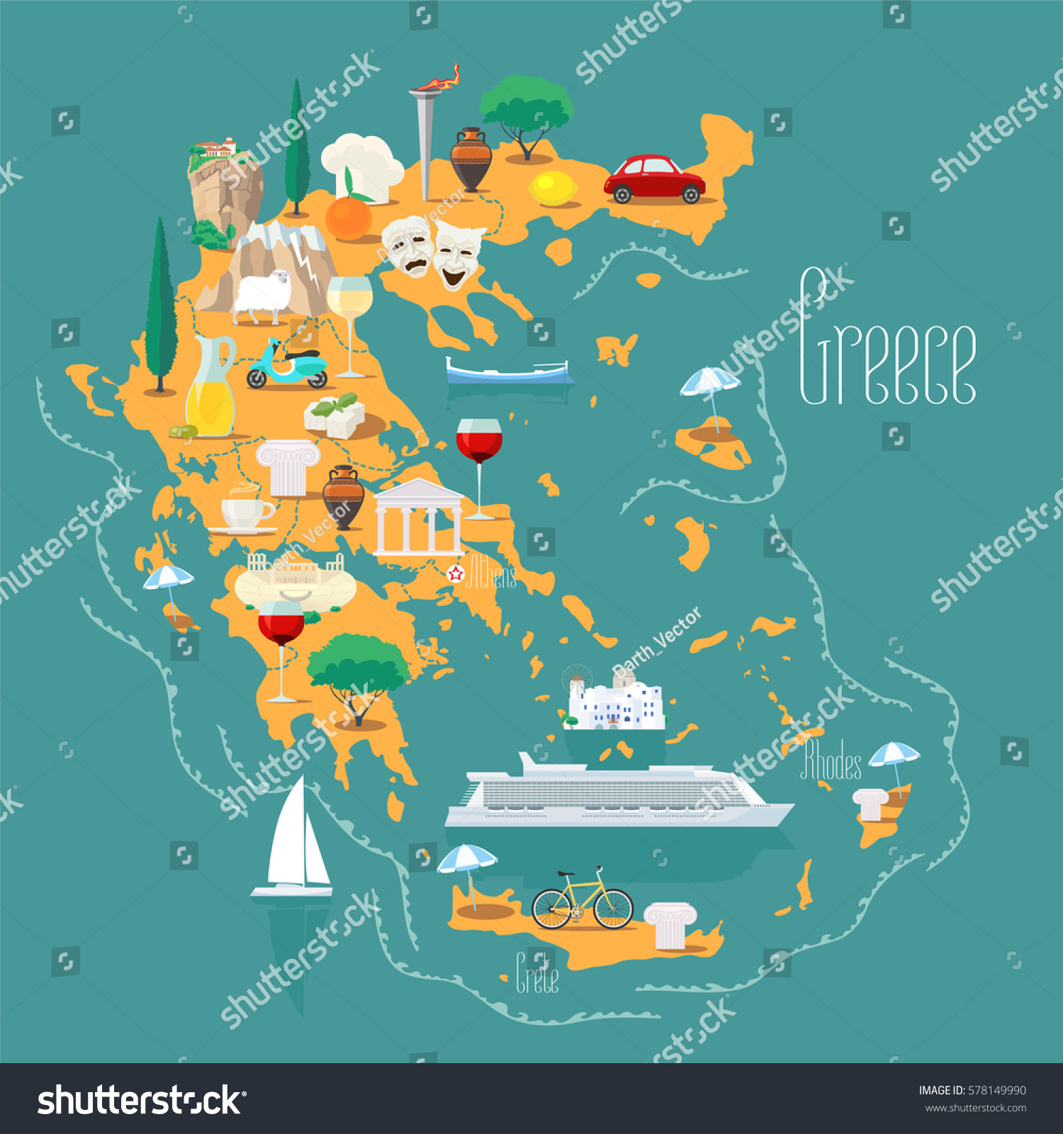 mount of olives map with Map Greece Islands Vector Illustration Design 578149990 on Jordan Israel Itinerary as well Anafi as well Jerusalem Day 3 in addition Jerusalem additionally Maps.