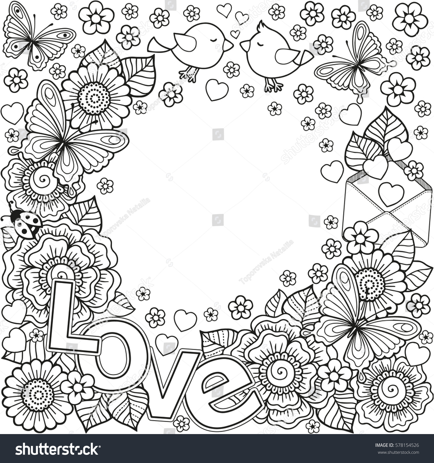 abstract coloring book for adult design for wedding invitations and valentines - Abstract Coloring Books
