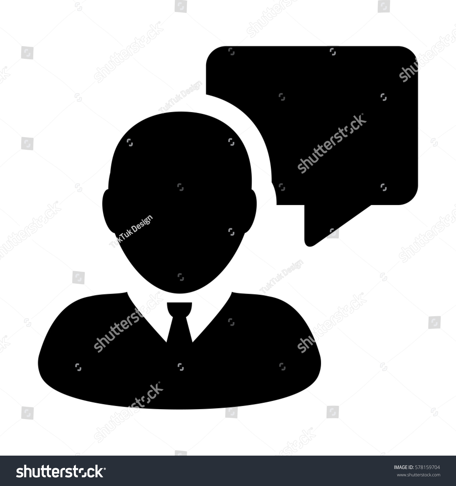 Message Icon Vector Person Chat Speech Stock Vector Royalty Free