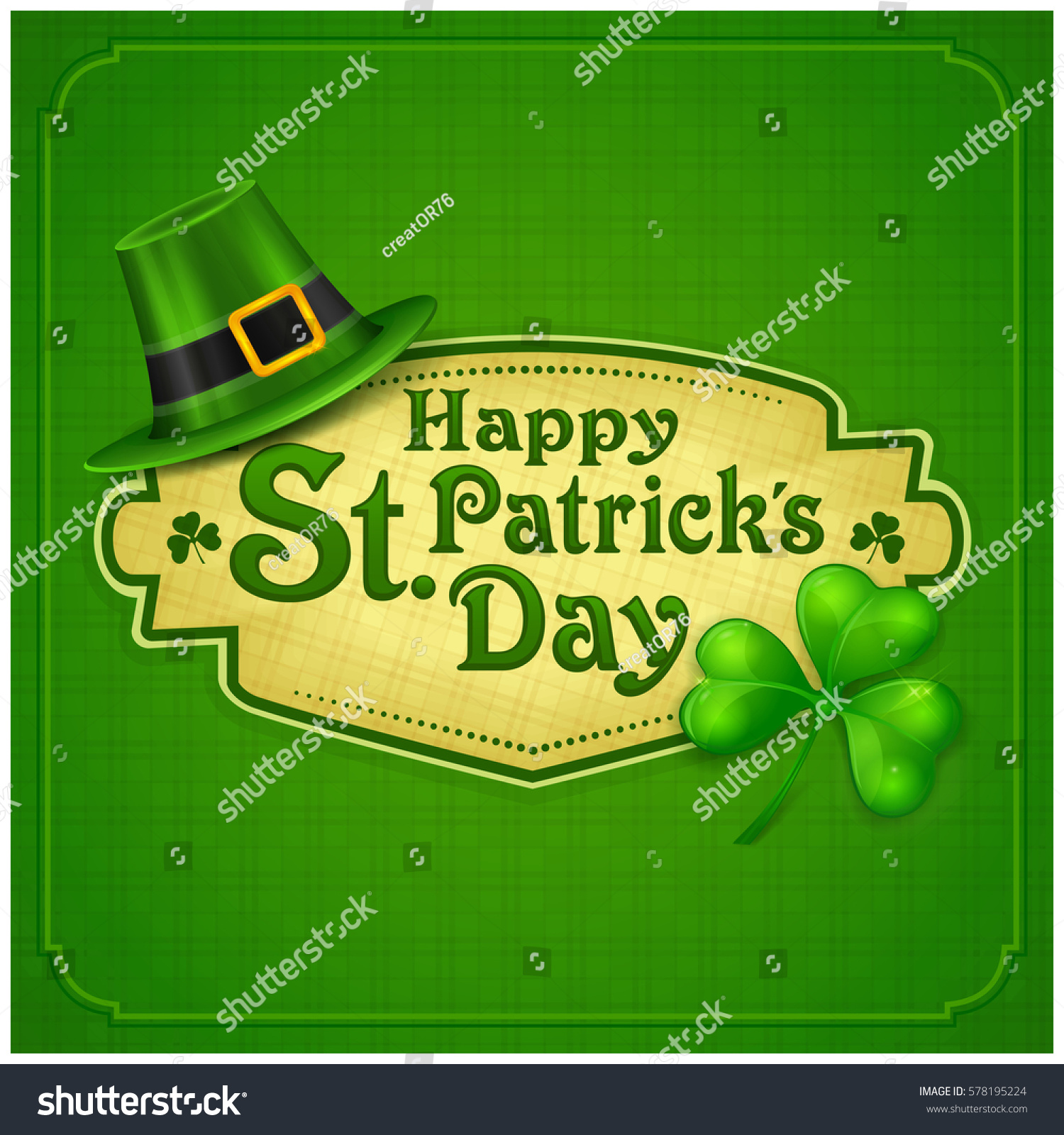 st patrick day poster s hat stock vector 578195224 shutterstock