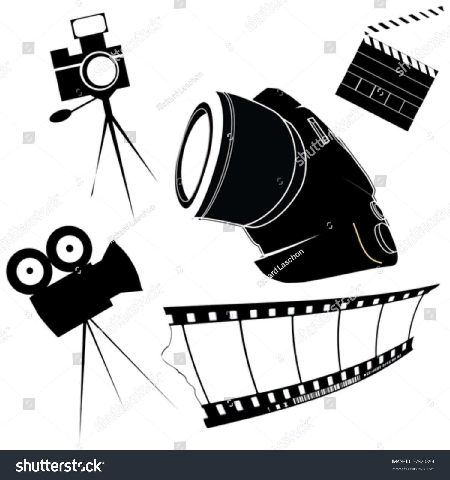 Photography Film Making Related Icons Stock Vector 57820894 ...