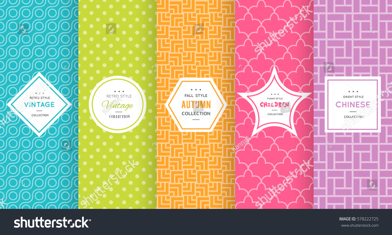 cute bright seamless pattern background vector のベクター画像素材