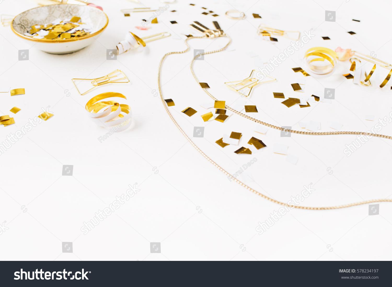 Beauty background gold style feminine stock photo