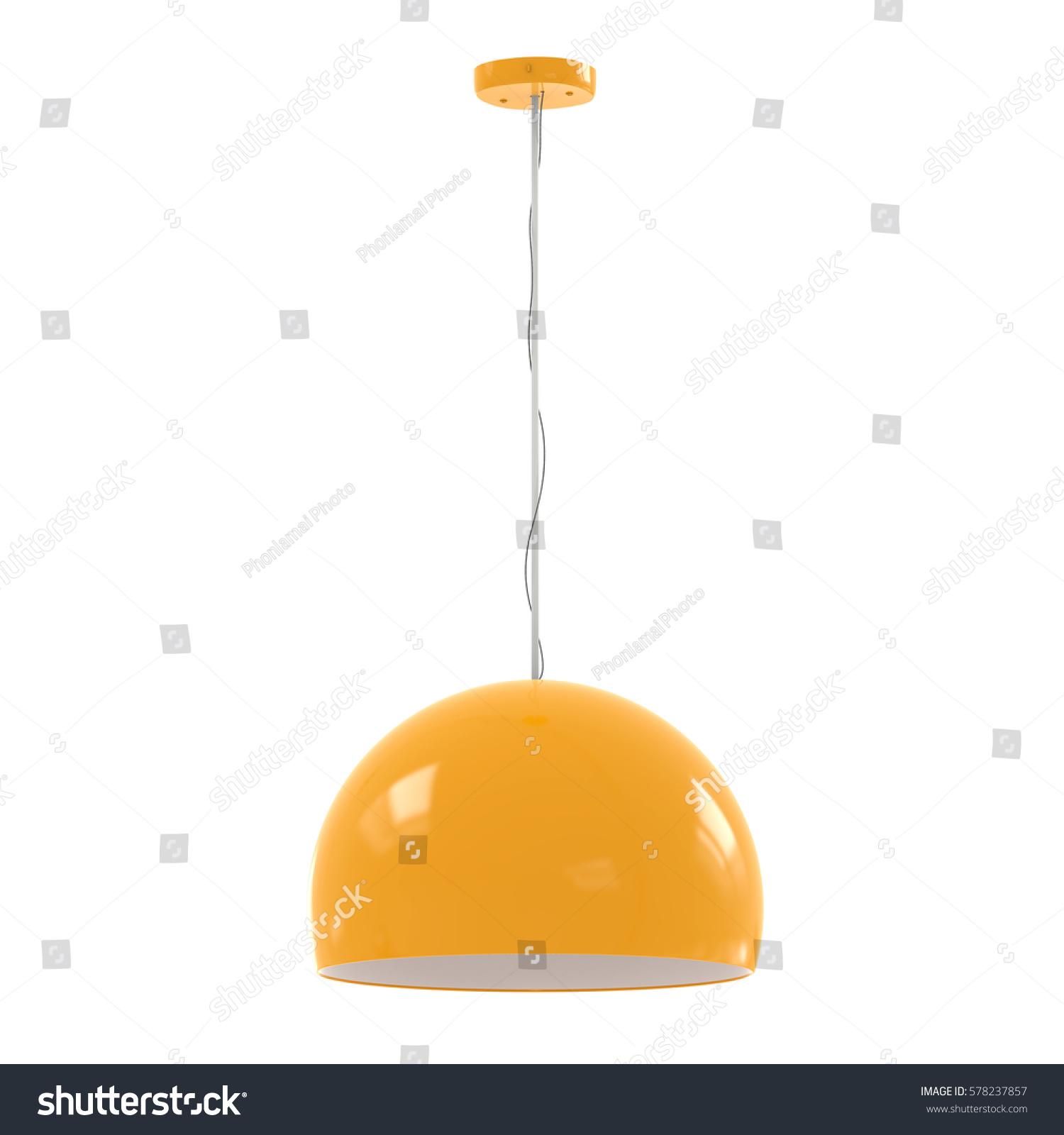 yellow pendant lighting. 3 D Rendering Hanging Yellow Pendant Lamp Stock Illustration 578237857 - Shutterstock Lighting