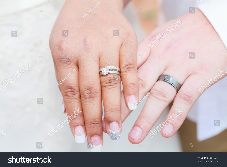 Wedding Ring Exchange Ceremony Stock Photo (Royalty Free) 578319757 ...