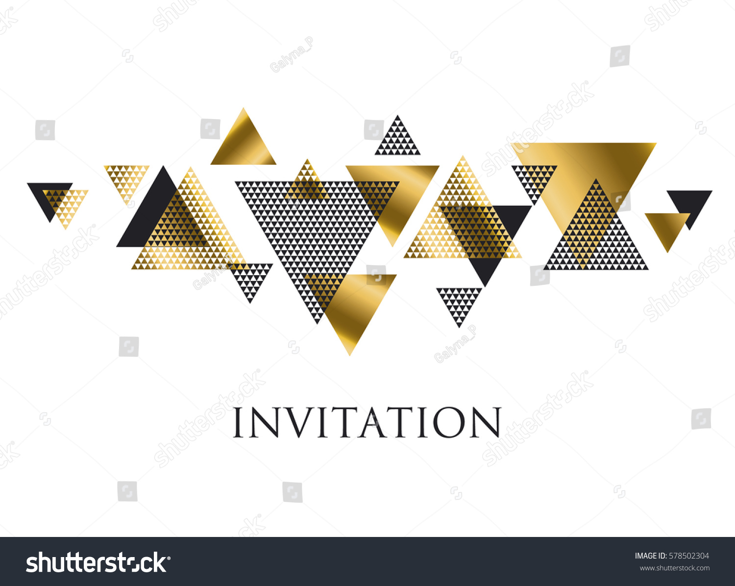Triangle geometry abstract vector illustration header stockvector 578502304 shutterstock - Deco donker gang ...