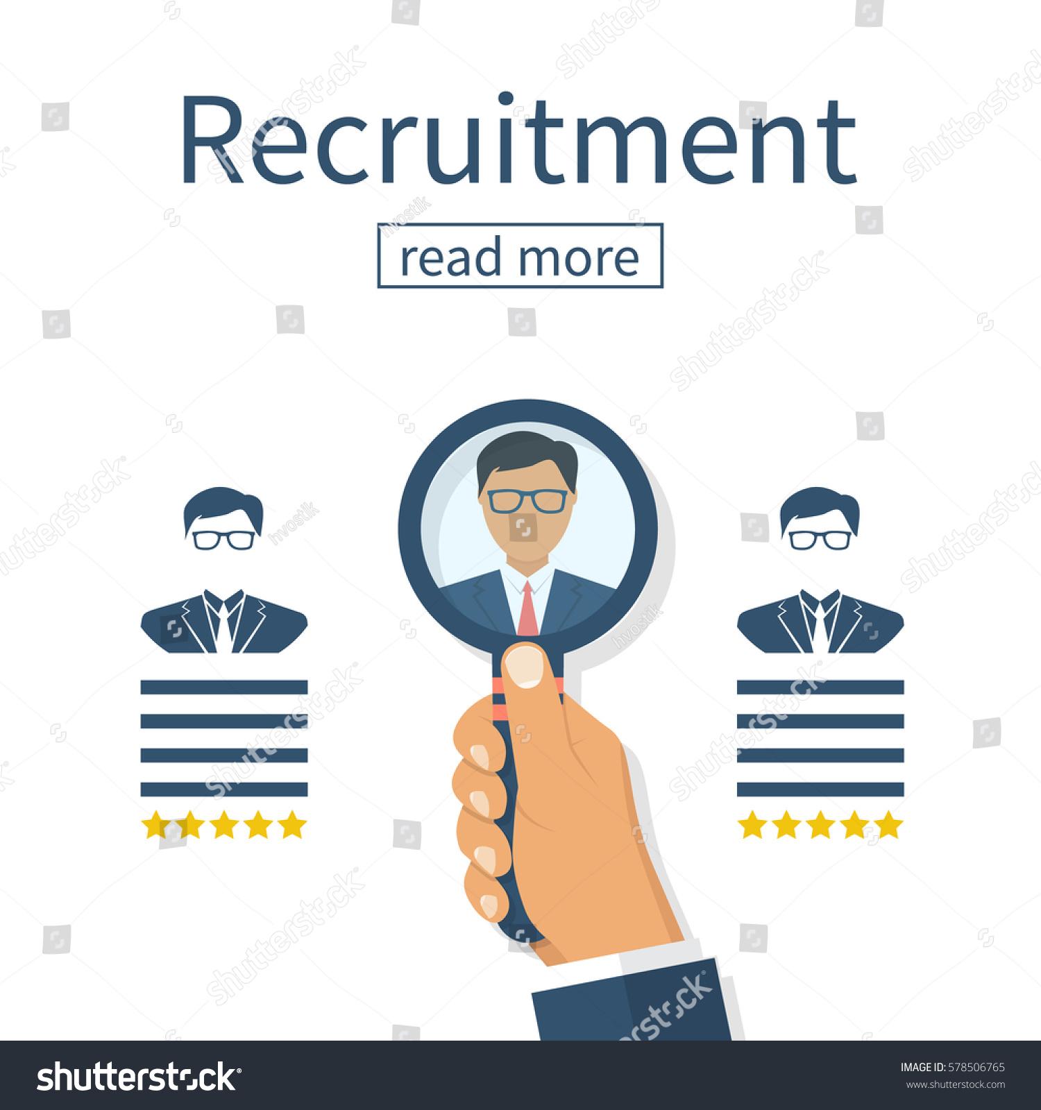 Recruitment Concept Human Resources Businessman Employer Stock