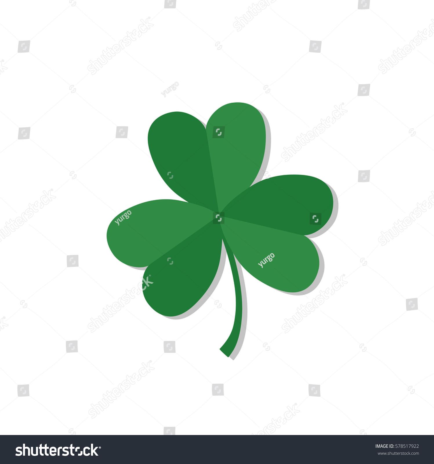 shamrock clover traditional irish symbol talisman stock vector