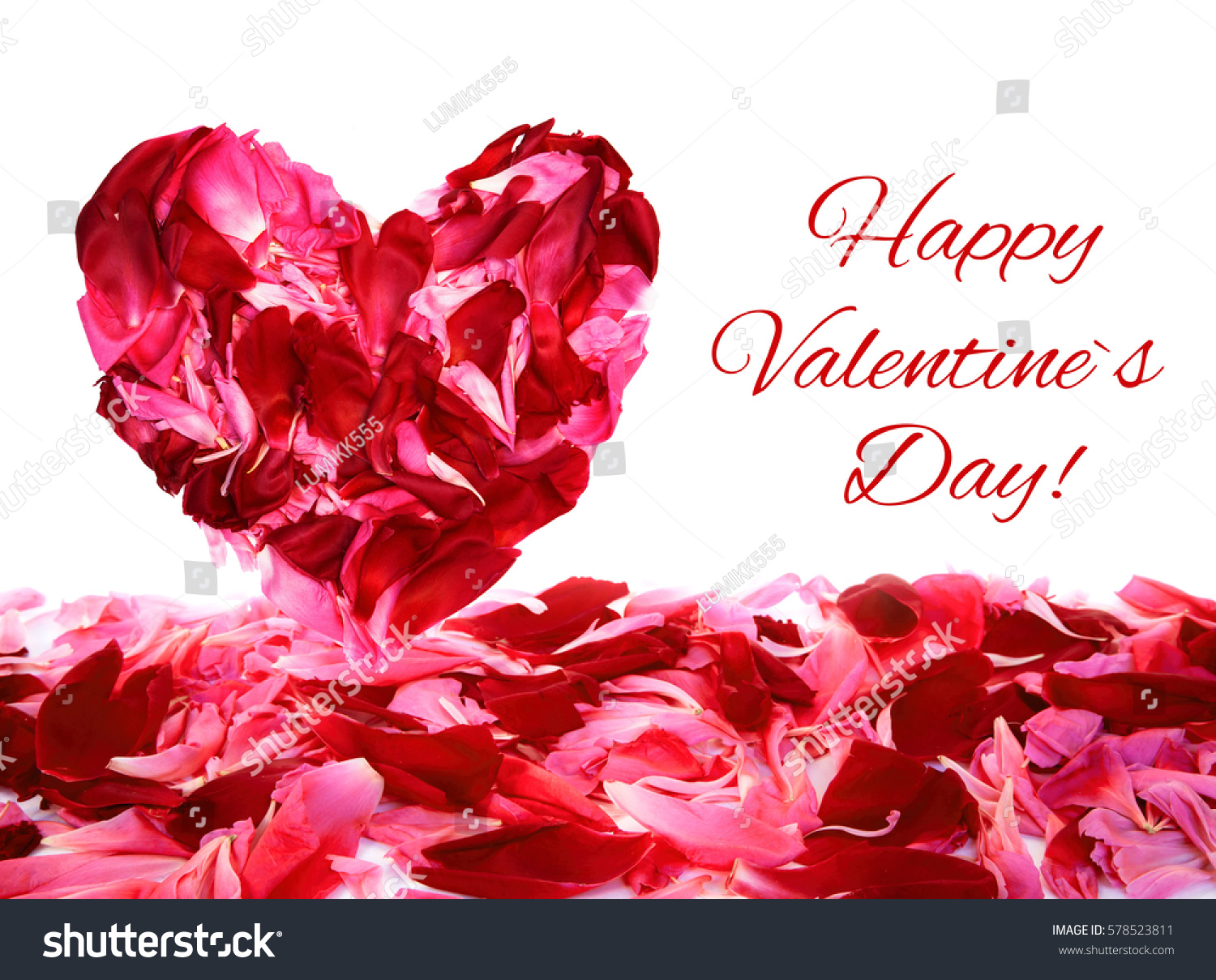 Decorative greeting card text happy valentines stock photo edit now decorative greeting card with text happy valentines day beautiful floral arrangement with heart of red izmirmasajfo