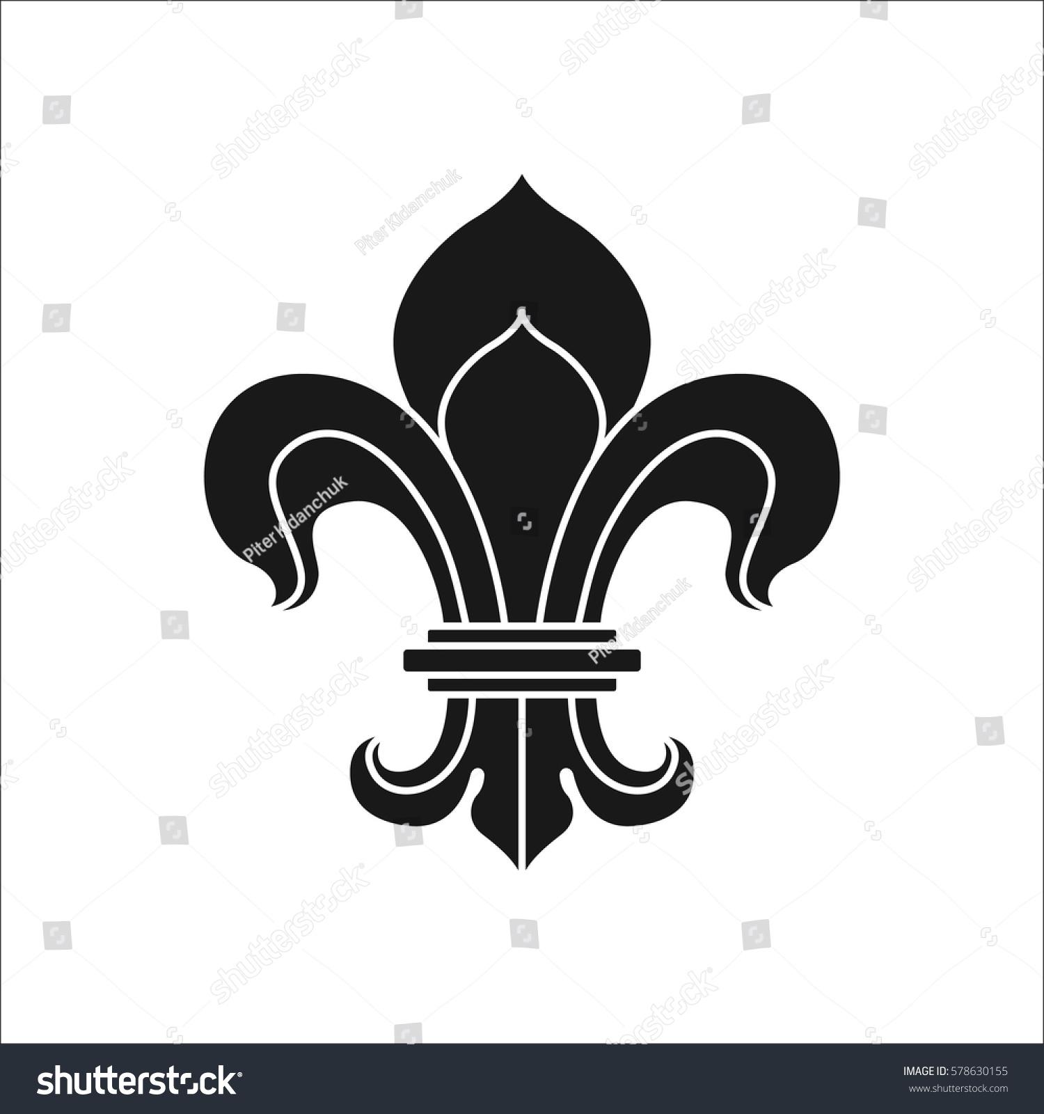 Royal lily fleur de lis symbol stock vector 578630155 shutterstock royal lily or fleur de lis symbol simple silhouette icon on background biocorpaavc