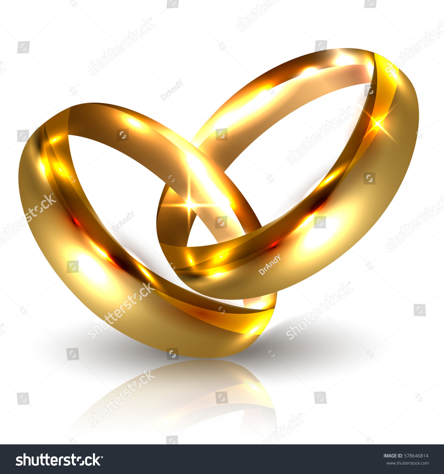 on shape of in heart rings two golden wedding