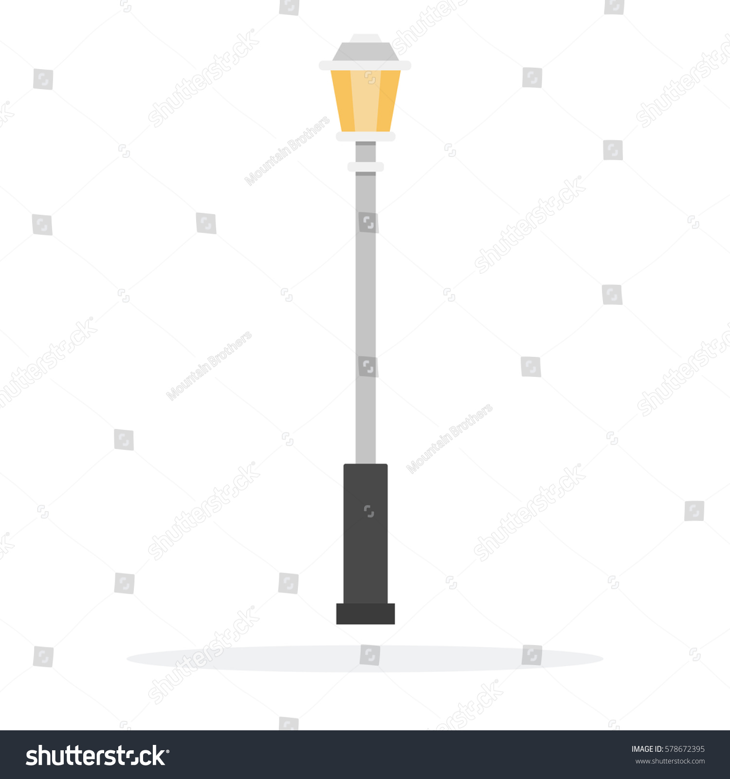 Lamp Post Vector Flat Material Design Stock Vector 578672395 ... for Street Lamp Post Vector  53kxo
