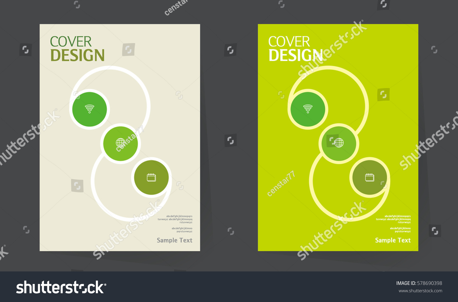 Cover Book Brochure Layout Vector : Annual report design vector template a stock